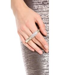 Nina Ricci - Metallic Triple Finger Ring - Lyst