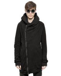 Julius Black Hooded Cotton Sweatshirt for men
