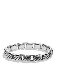 David Yurman Metallic Modern Cable Empire Link Bracelet for men