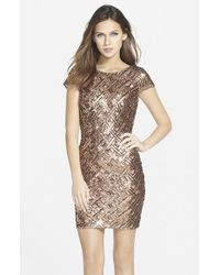 Dress the Population Metallic 'tabitha' Sequin Minidress