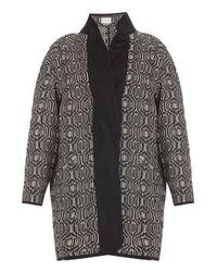 Isabel Marant - Black Ebba Cotton Blanket Coat - Lyst