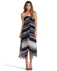 Twelfth Street Cynthia Vincent - Multicolor Handkerchief Midi Dress in Navy - Lyst