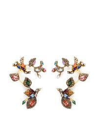 Erickson Beamon | Metallic 'telepathic' Crystal Vine Ear Cuffs | Lyst
