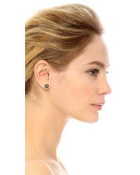 kate spade new york Black Rise And Shine Flower Stud Earrings - Jet