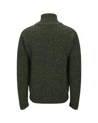 Nigel Cabourn Green Mens Zip Through Cardigan for men