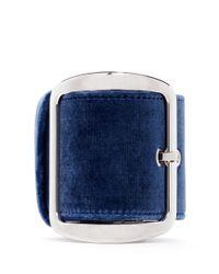 Givenchy Blue Velvet Buckle Chunky Bracelet