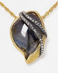 "Alexis Bittar - Gray Elements Labradorite Winding Vine Pendant Necklace, 16"" - Lyst"
