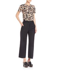 Marc By Marc Jacobs - Brown Leopard-print Tee - Lyst