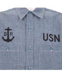 Dr Romanelli - Blue Military Style Shirt for Men - Lyst