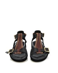 Isabel Marant Purple Layne Suede And Leather Sandals