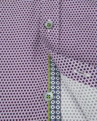 Ted Baker Purple Lonmaul Circle Print Shirt for men