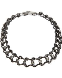 Mawi | Metallic Crystal Ladder Chain Necklace | Lyst