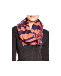 Aqua | Blue Graphic Print Loop Scarf | Lyst