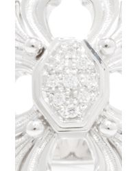 Buccellati | Metallic Ring With Diamonds In White Gold | Lyst