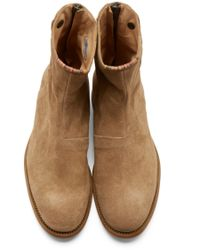 PS by Paul Smith Brown Tan Suede Claude Boots for men
