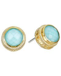 Anna Beck | Blue Circle Post Turquoise Earrings | Lyst
