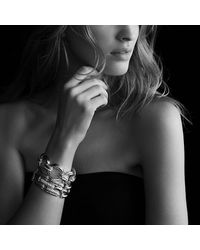 David Yurman - Metallic Oval Large Link Bracelet With Diamonds In Gold - Lyst