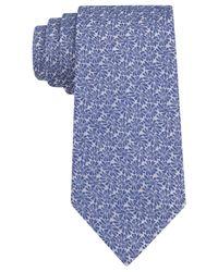 Calvin Klein - Blue Denim Daisy Slim Tie for Men - Lyst