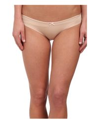 Betsey Johnson | Natural Slinky Knit & Lace Cheeky Bikini J1950 | Lyst