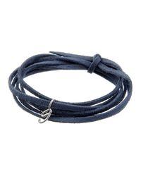 Dalla Nonna | Blue Little Letter Wrap Bracelet In Yellow Gold | Lyst