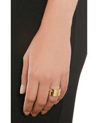 Hoorsenbuhs | Metallic Diamond Gold Plate Ring | Lyst