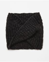 Zara | Gray Melange Knit Snood for Men | Lyst