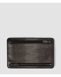 AllSaints - Brown Travel Currency Hold - Lyst