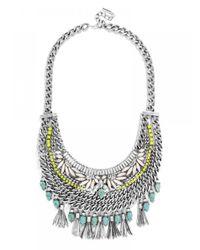 BaubleBar | Metallic Alessandra Tassel Bib | Lyst