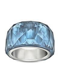 Swarovski - Blue Nirvana Petite Montana Crystal Ring - Lyst