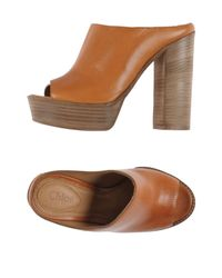 See By Chloé - Brown Mules - Lyst