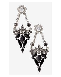 Express | Black Mixed Rhinestone Chandelier Earrings | Lyst