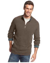 Tommy Bahama Blue New Flip Side Pro Reversible Half-Zip Sweater for men