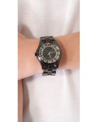 Marc By Marc Jacobs Black Henry Skeleton Watch