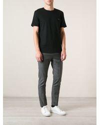 Acne Studios - Black Measureface Badge Tshirt for Men - Lyst