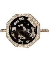 Monique Péan | Metallic Women's Inverted Obsidian Ring | Lyst