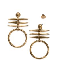 Tory Burch - Metallic Metal Triple-horn Drop Earring - Lyst