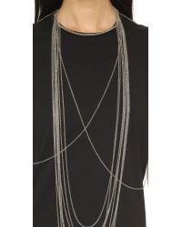 Chan Luu | Black Draping Body Chain - Silver | Lyst