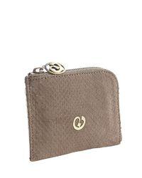 Nada Sawaya | Brown Medium Zip Around Python Wallet | Lyst