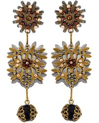 DSquared² | Metallic Floral Earrings | Lyst