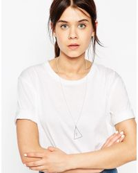 ASOS | Metallic Double Triangle Fine Necklace | Lyst