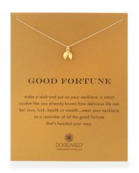 "Dogeared - Metallic Gold-dipped ""good Fortune"" Necklace - Lyst"