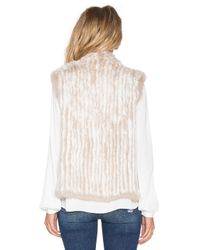 Joie - Natural Mahoney Rabbit-Fur Vest  - Lyst