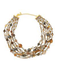 Jose & Maria Barrera Multicolor Chunky Multi-Stone Necklace