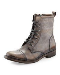 Kenneth Cole | Brown Long N Tall Leather Lace-Up & Zip Boot | Lyst