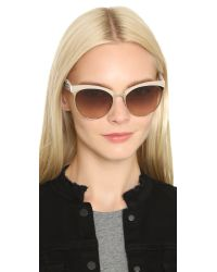 Miu Miu - Natural Top Rim Sunglasses - Lyst