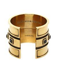 Alexander McQueen - Metallic Square Enamel Bracelet - Lyst