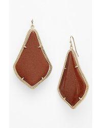 Kendra Scott | Brown 'alexandra' Large Drop Earrings | Lyst