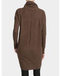 White + Warren Brown Cashmere Wedge Dress