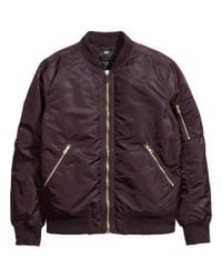 H&M - Purple Bomber Jacket for Men - Lyst