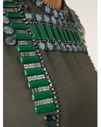 Lanvin - Green Embellished Dress - Lyst